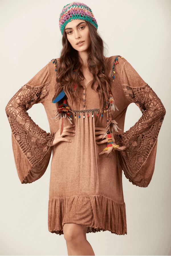 Vestido-Curto-Marrom-estonado-hippie-chic-frente