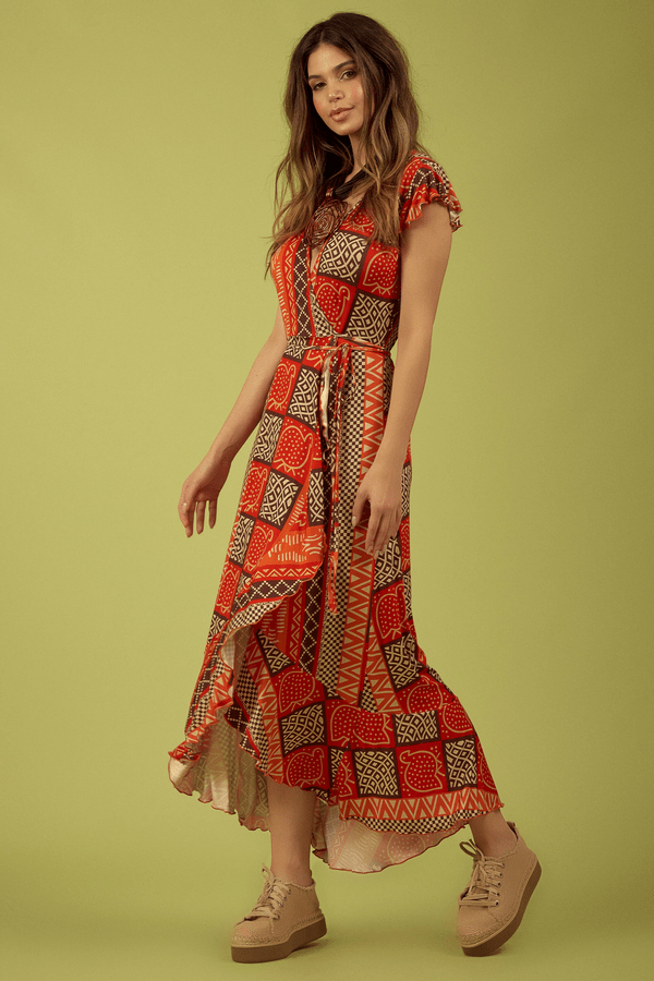Vestido-Longo-Transpassado-laranja-Yacamim-lado
