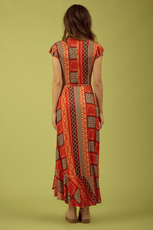 Vestido-Longo-Transpassado-laranja-Yacamim-Costas