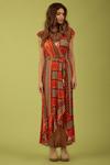 Vestido-Longo-Transpassado-laranja-Yacamim-Frente