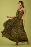 Vestido-verde-Patchwork-Yacamim-Pose