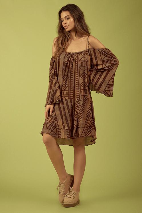 Vestido-Ciganinha-Marrom-Rupestre-Yacamim-Frente