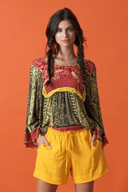 Shorts-de-Linho-Amarelo-Yacamim-Frente