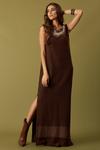 Vestido-Marrom-Longo-Yacamim-Frente