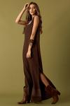 Vestido-Marrom-Longo-Yacamim-Lado