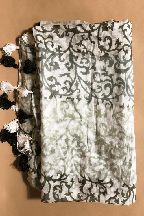 Lenco-Estampado-Verde-Escuro-Yacamim-Perto