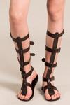 Sandalia-Gladiadora-Marrom-Yacamim-Frente