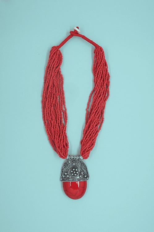Colar-Tibetano-Vermelho-Yacamim-Perto
