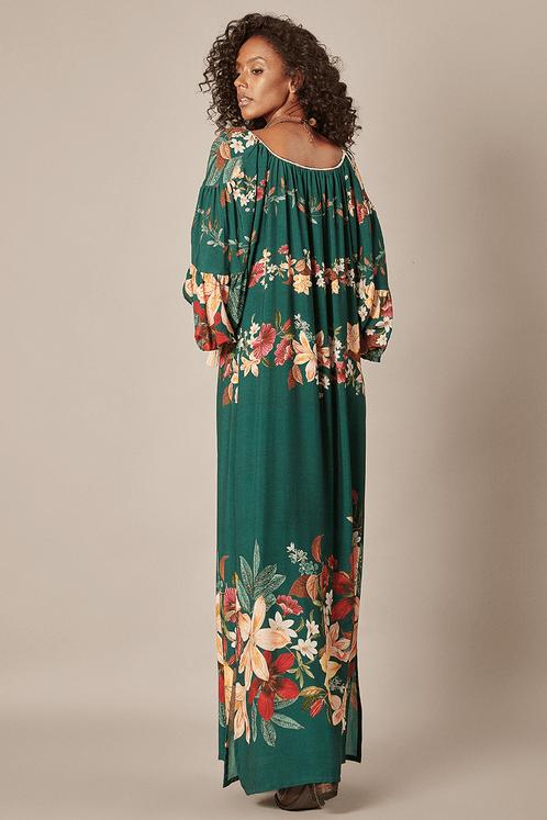 Vestido-Longo-Verde-Fendas-Yacamim-costas