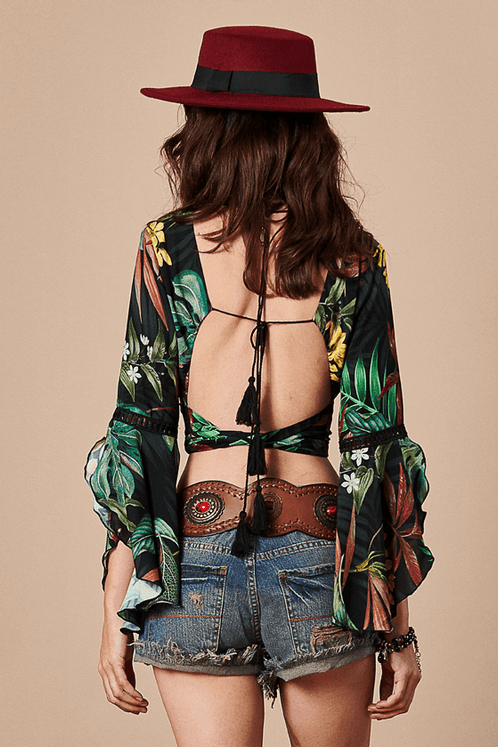 Cropped-Transpassado-preto-floral-yacamim--costas