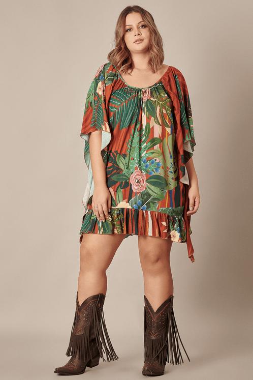 Vestido-Laranja-Estampado-Yacamim-frente