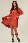 Vestido-Laranja-entremeio-Yacamim-frente