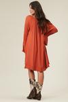 Vestido-Laranja-entremeio-Yacamim-costas