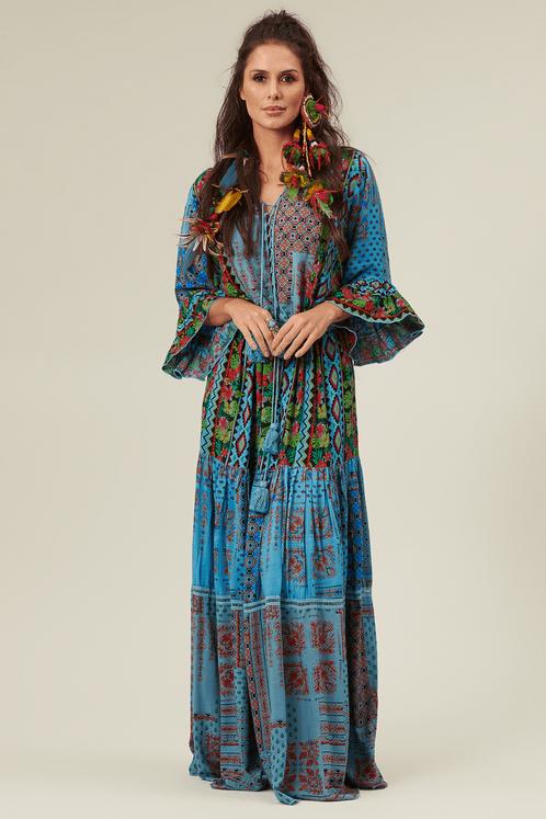 vestido-longo-azul-patchwork-yacamim-frente