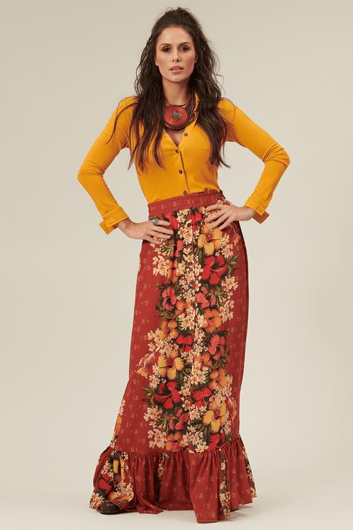 Saia-Longa-Vermelha-Floral-Yacamim-frente