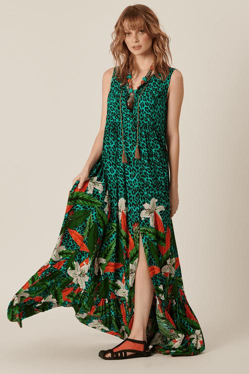 vestido-longo-verde-animal-print-yacamim-frente