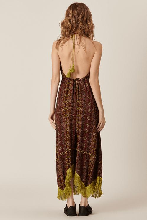 Vestido-Midi-franjas-estampado-yacamim-costas