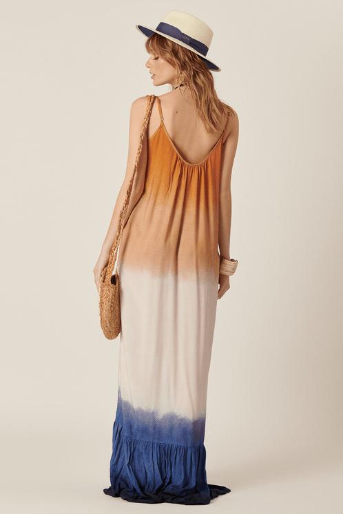 Vestido-Longo-Marrom-Azul-Yacamim-Costas