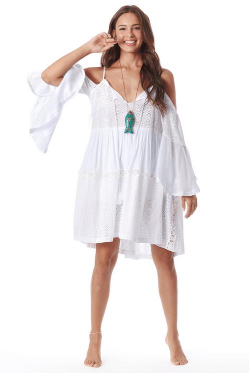 Vestido-Curto-de-Guipure-Branco-Yacamim-frente