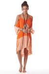 Vestido-Laranja-Tie-Dye-Yacamim-Frente