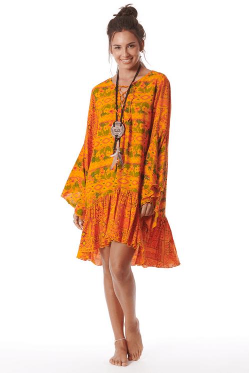 Vestido-Laranja-Yacamim-Frente