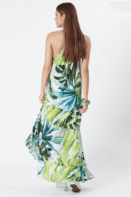 Vestido-Longo-com-alcas-verde-estampado-yacamim-costas