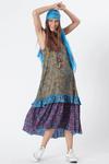 Vestido-Midi-Yacamim-Azul-Patchwork-frente