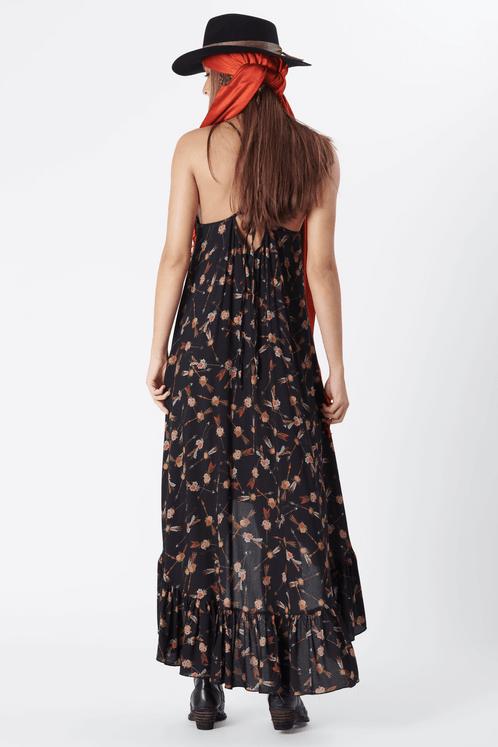 Vestido-Mullet-Yacamim-preto-Estampado-costas