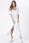 Vestido Chemise Branco Guipure yacamim frente