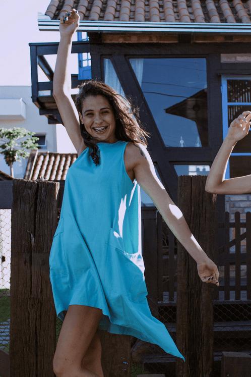 Vestido-Azul-Turquesa-Pontas-Yacamim-frente