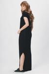 Vestido-Longo-Basico-Preto-Yacamim-costas
