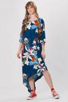 Vestido-Assimetrico-azul-estampado-yacamim-frente