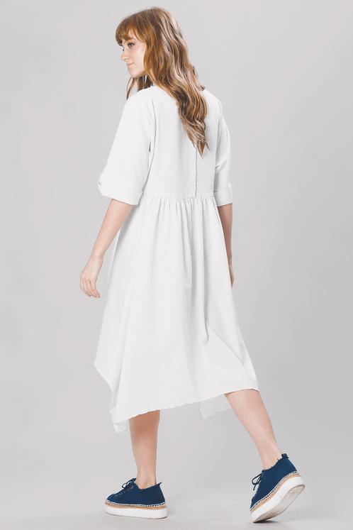 Vestido-curto-transpassado-off-white-yacamim-costas