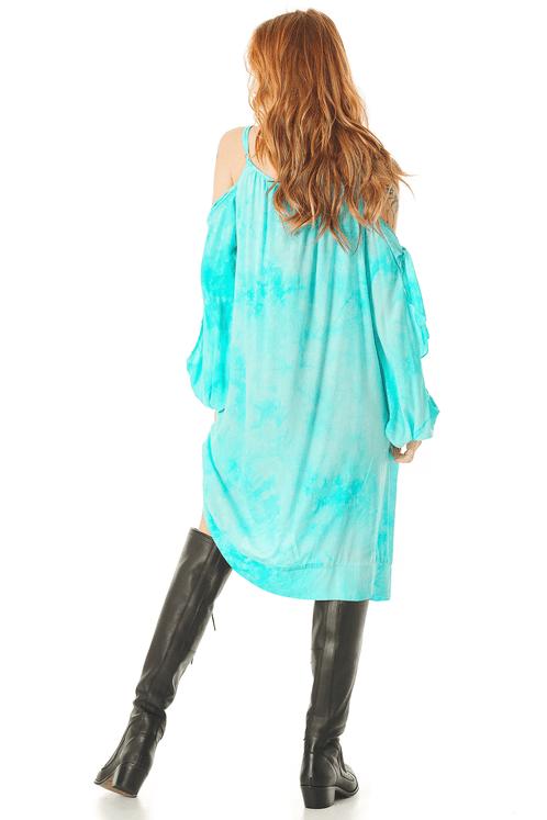 Vestido-Curto-com-Mangas-Abertas-Azul-Tie-Dye-Digital-Yacamim-costas
