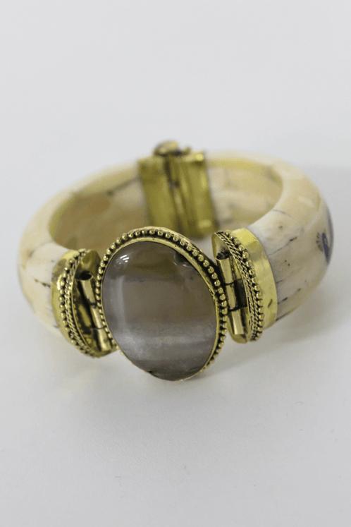 Bracelete-Pedra-Grande-Marrom