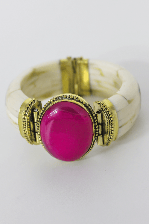 Bracelete-Pedra-Grande-Rosa
