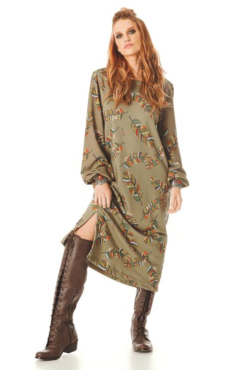 Vestido-Verde-Penas-Yacamim-frente