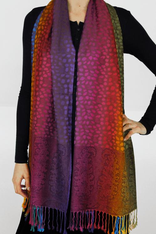 Lenco-pashimina-colorido-Yacamim-frente