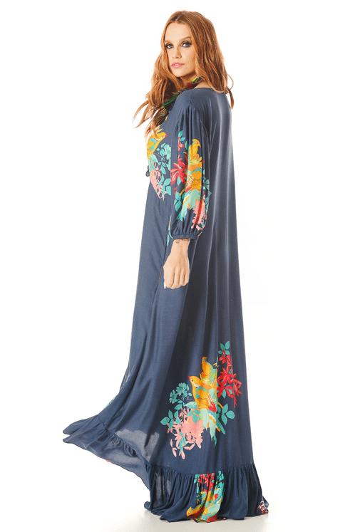 Vestido-Mullet-Azul-Escuro-Estampado-Yacamim-costas
