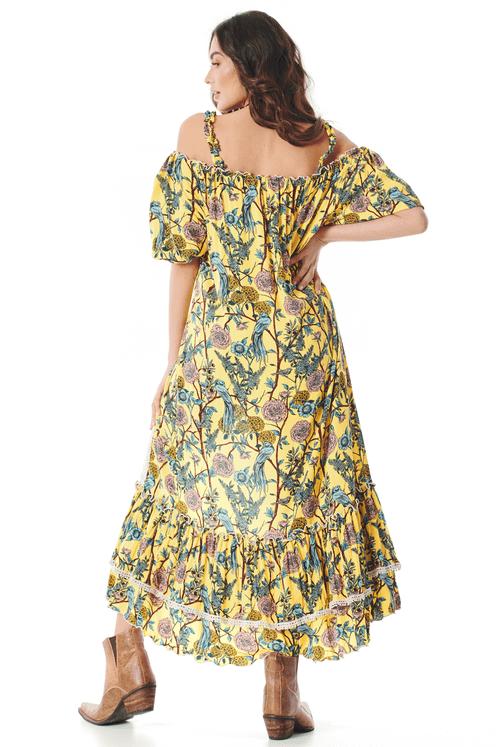 Vestido-amarelo-Estampado-Yacamim-costas
