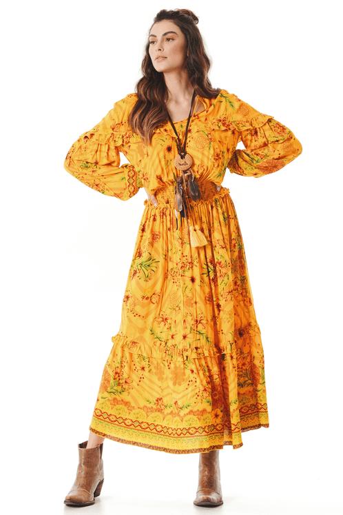 Vestido-Midi-Amarelo-Estampado-Yacamim-frente