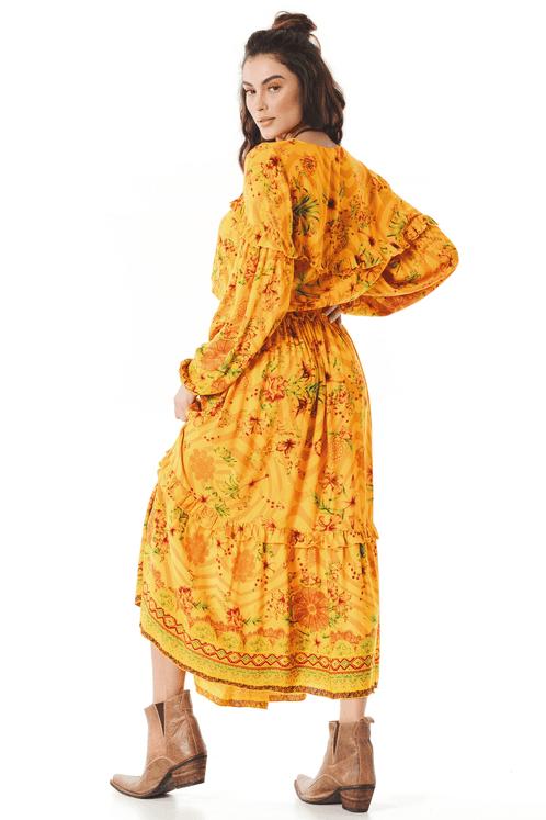 Vestido-midi-Amarelo-Estampado-Yacamim-costas