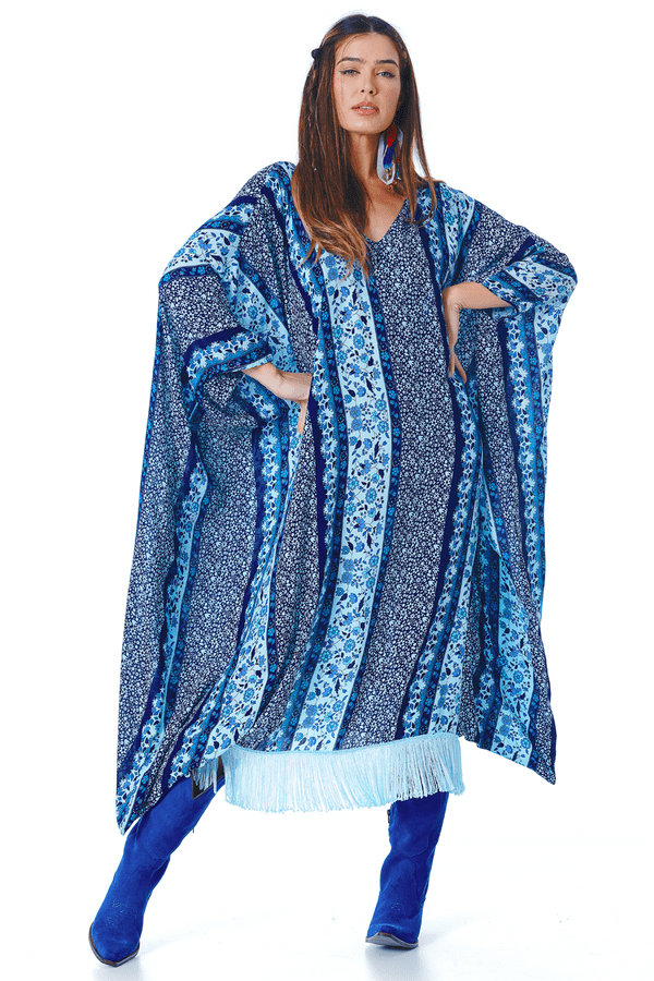 Vestido-Midi-Azul-Estampado-yacamim-frente