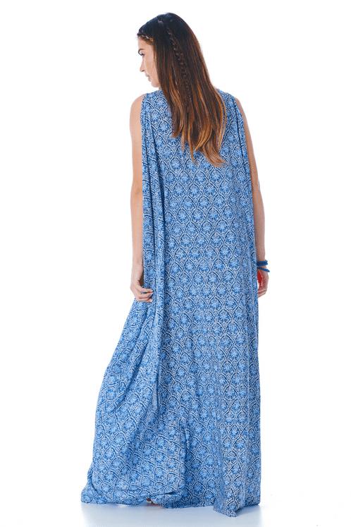 Vestido-Longo-de-Amarrar-Azul-Estampado-Yacamim-costas