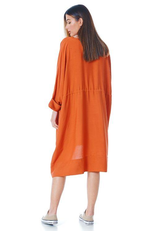 Vestido-curto-com-tunel-laranja-yacamim-costas
