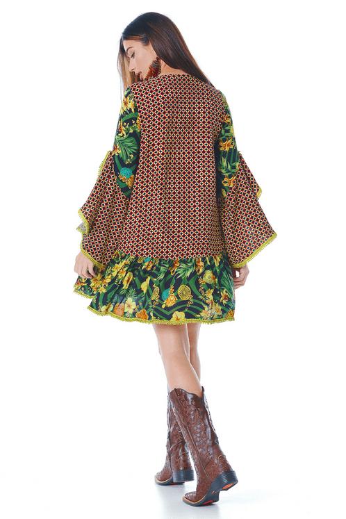 Vestido-Curto-Verde-Patchwork-Yacamim-frente
