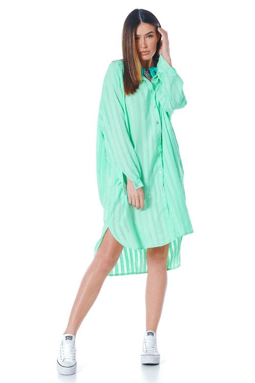 Chemise-manga-raglan-verde-listrado-yacamim-frente