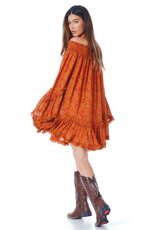 Vestido-Ciganinha-Laranja-Estampado-yacamim-costas