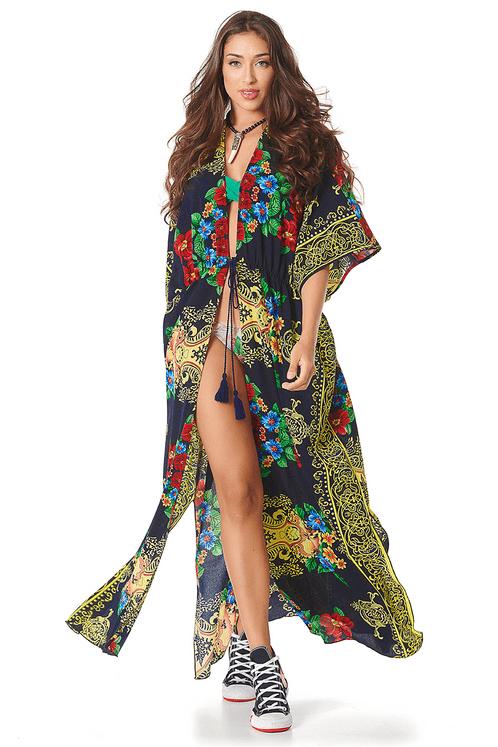 Kimono-Longo-Preto-Estampado-Yacamim-frente