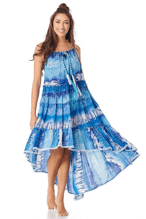 Vestido-Mullet-Amplo-Azul-Estampado-Yacamim-frente